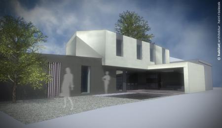 Haus H | Tulln | NÖ | Rendering Hofseite